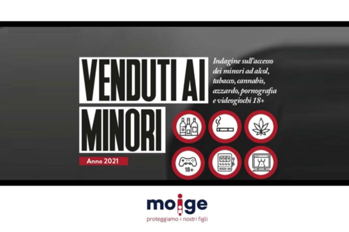 """""""Venduti ai Minori"""": secondo l'indagine Moige, più di un commerciante su 2 vende prodotti vietati ai minori"""